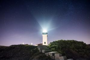Beavertail Lighthouse Under the Stars