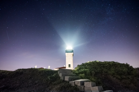 Beavertail Lighthouse Under the Stars