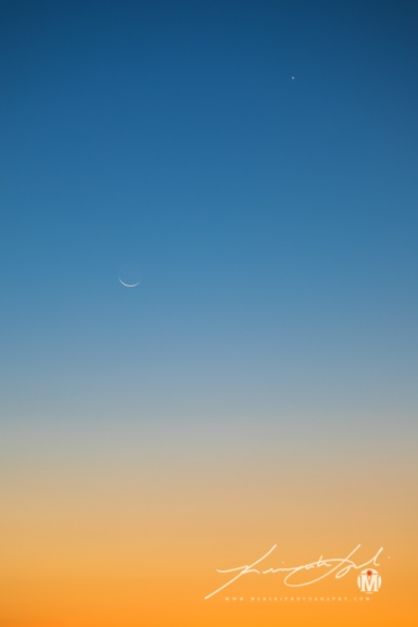 2017 - Crescent Moon with Orange Glow - Small