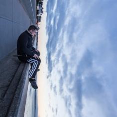 Sitting at Narragansett Wall
