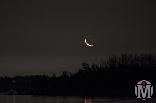 Crescent Moon over Bissel Cove (Landscape) - North Kingstown, RI