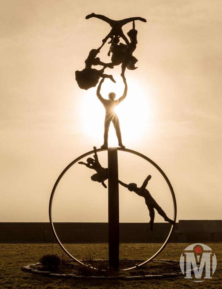 """""""Dance of Peace"""" Sculpture"""
