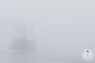 """American Pride"" going into the fog - Pt. Judith, RI"