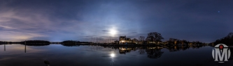 Moon over Mill Cove - North Kingstown, RI