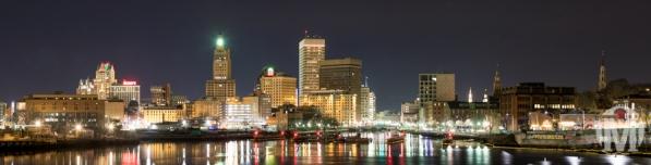 Providence Skyline at Night - Providence, RI