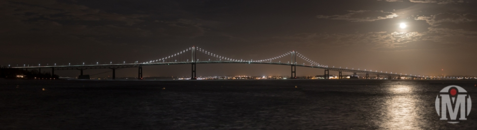 Newport Bridge at Night - Newport, RI