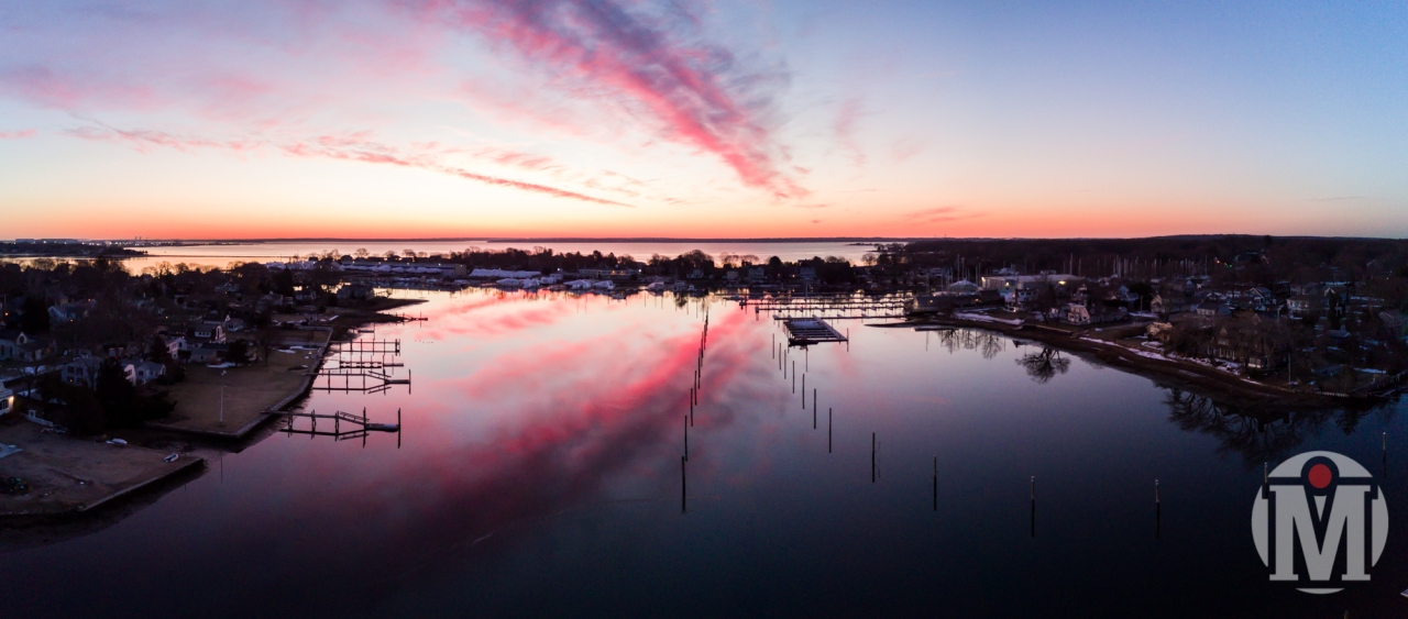2017 - March - Drone - Wickford Harbor Sunrise (2 of 2)
