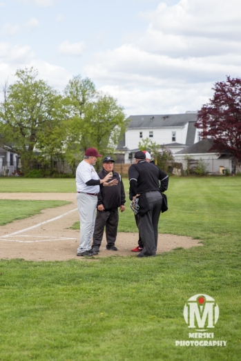 2017 - May - Woonsocket Middle School Baseball - Umps and Coaches