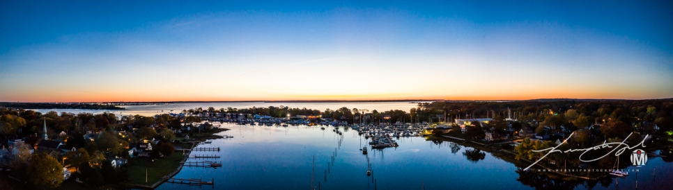 Twilight Panorama of Wickford