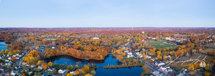 Westward View from Wickford Harbor - Autumn