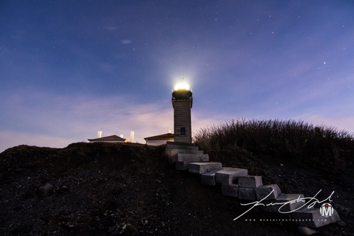 Recreation of Beavertail Staircase & Light