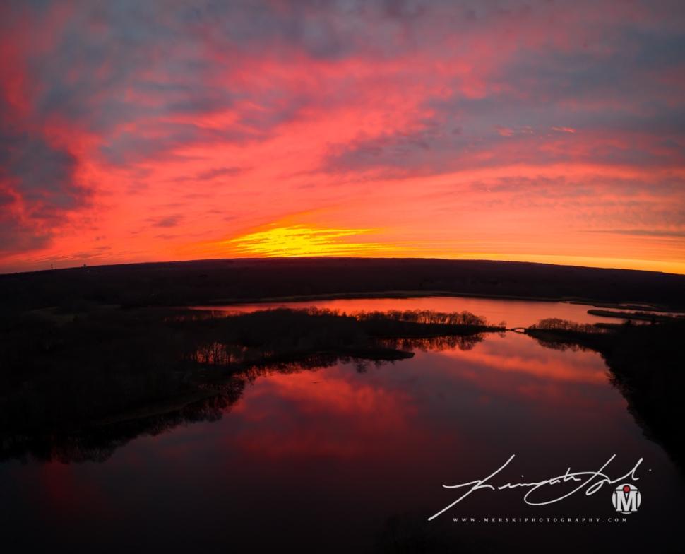 2019 - March - Belleville Pond - Sunset (1 of 1)