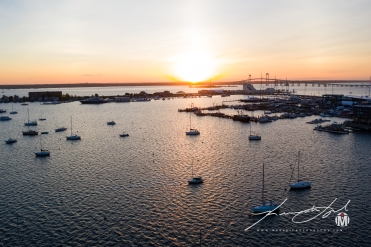 Aerial View - Westward Over Narragansett Bay