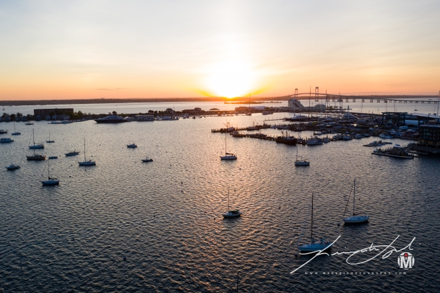 Aerial View - Westward Over Narragansett Bay