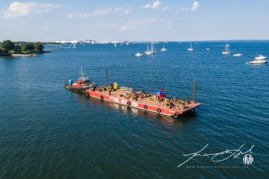 North Kingstown Town Beach Firework Barge 1