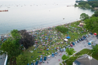 Aerial of Town Beach - Fireworks 3