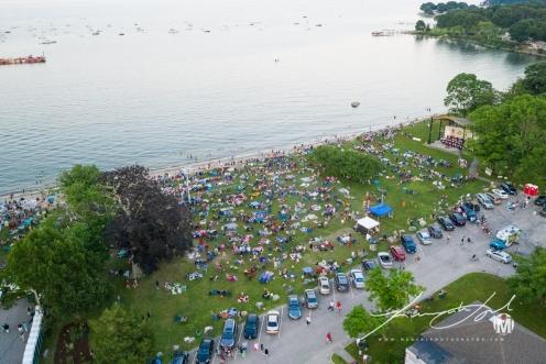 Aerial of Town Beach - Fireworks 3
