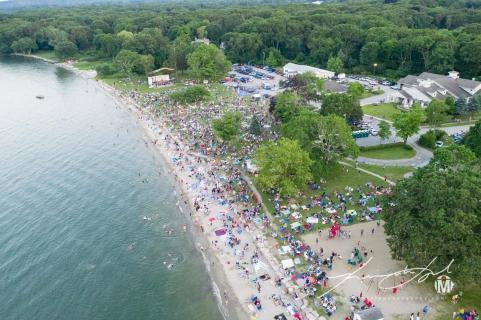 Aerial of Town Beach - Fireworks 4