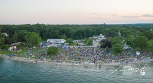 Aerial of Town Beach - Fireworks 5