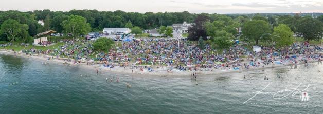 Aerial of Town Beach - Fireworks 6