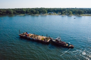 North Kingstown Town Beach Firework Barge 5