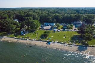 Aerial of Town Beach - Fireworks 1