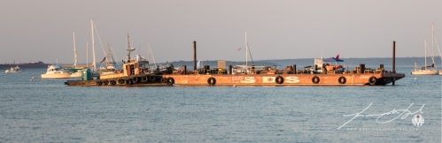 North Kingstown Town Beach Firework Barge 6