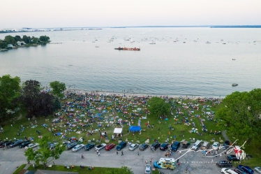Aerial of Town Beach - Fireworks 2