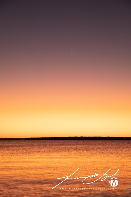 2019 - September - Crescent Moon over Town Beach (2 of 3)