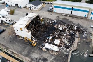 2019 - September - Wickford Harbor Shipyard Fire (2 of 8)