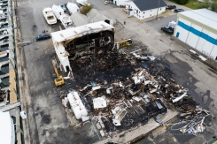 2019 - September - Wickford Harbor Shipyard Fire (3 of 8)