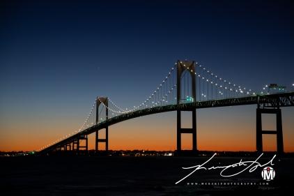 Newport Bridge - Zoomed-in Shot #3